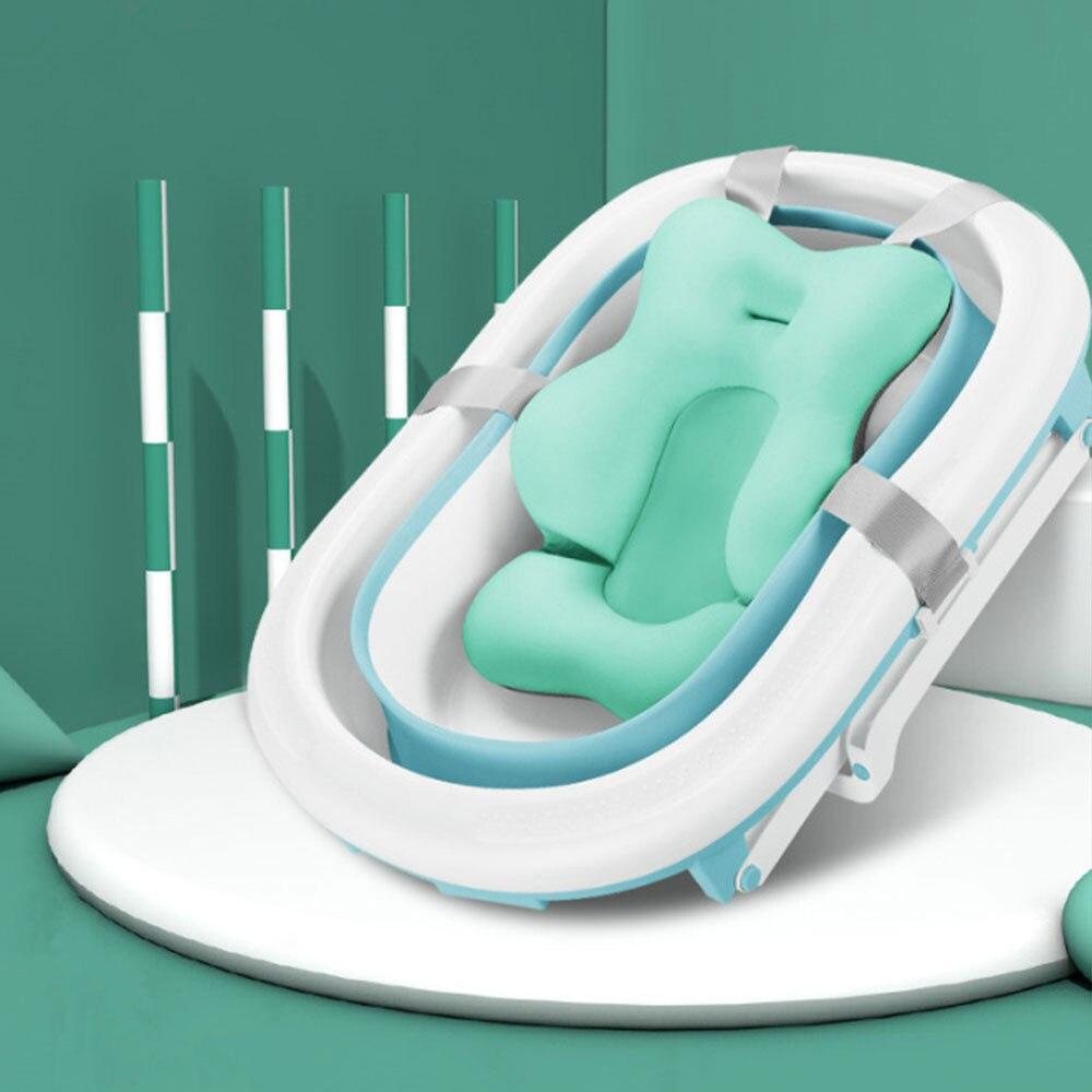 Suave y antideslizante para bebé, cómodo cojín para bañera, Asiento de baño para bebé, alfombrilla de apoyo, alfombrilla de baño, silla de bañera, almohada para recién nacido, alfombrilla de Ducha