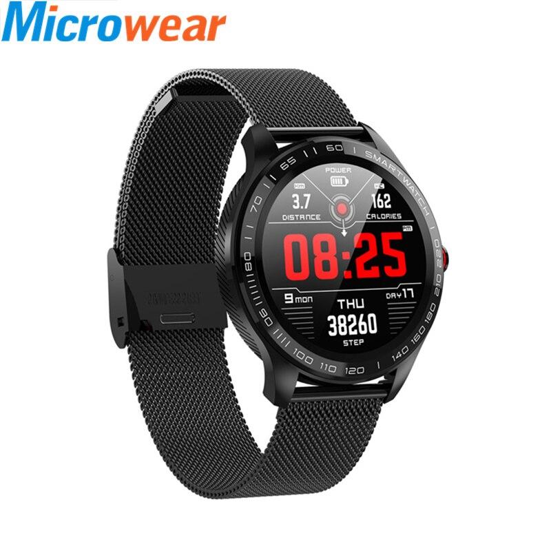 Original L9 Smartwatch 2019 Smart Watch Men ECG Heart Rate Monitor Blood Pressure Oxygen 1.3inch Full Touch Color Screen Clock