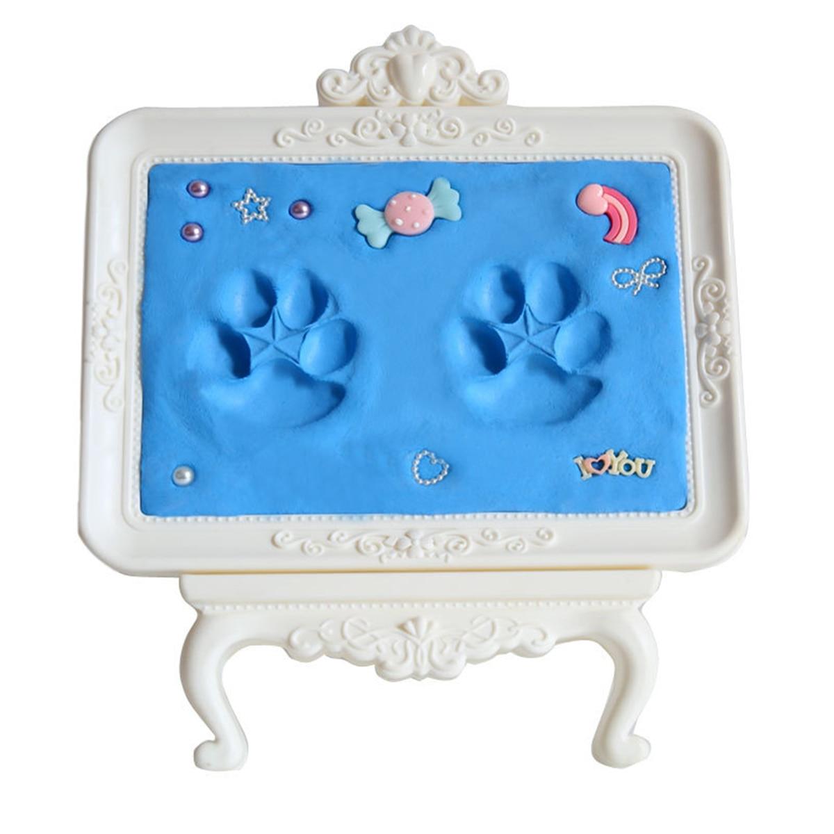 Safe Newborn Baby Souvenirs Hand Foot Print Baby Handprint Footprint Mud Maker Keepsake Soft Clay Baby items for newboms Gift