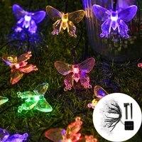 fairy light butterfly crystal solar led light outdoor christmas light solar light garden navidad decoration solar street garland