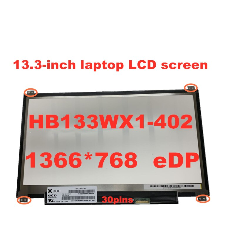 Envío Gratis, pantalla LCD para portátil de 13,3 pulgadas, HB133WX1-402 B133XTN01.6, N133BGE-E31, 1366x768, EDP, 30 pines