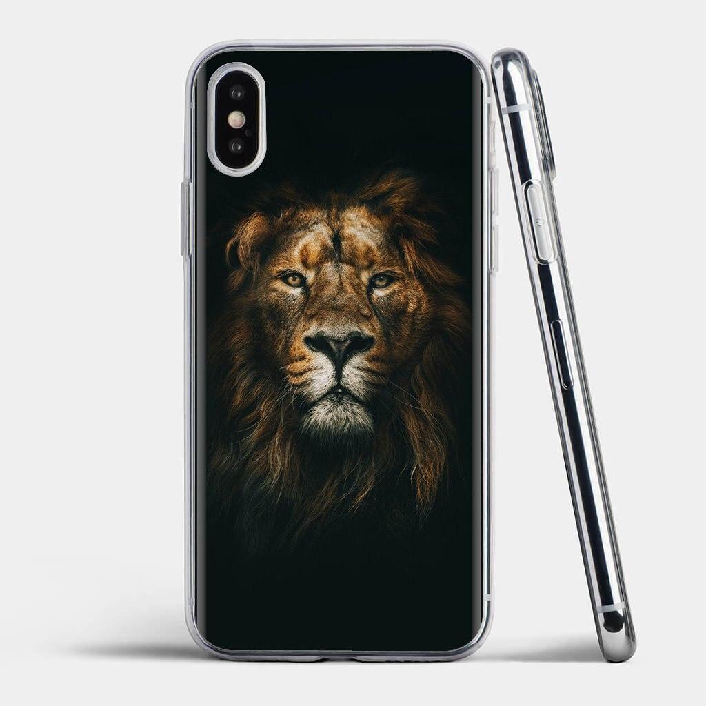 Carcasa blanda con diseño de León Tigre leopardo lobo para Xiaomi Redmi 4A 7A S2 Note 8 3 3S 4 4X 5 Plus 6 7 6A Pro pocofone F1