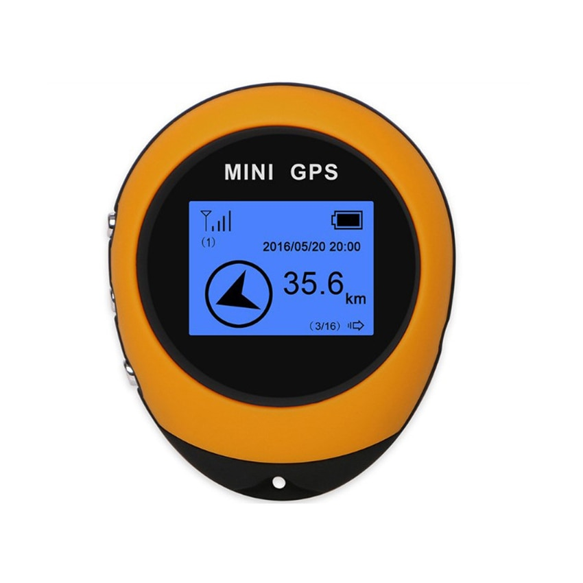 Mini GPS Locator Outdoor Climbing Location Finder Tracker, Portable Navigator Receiver For Time Distance Mileage Speed