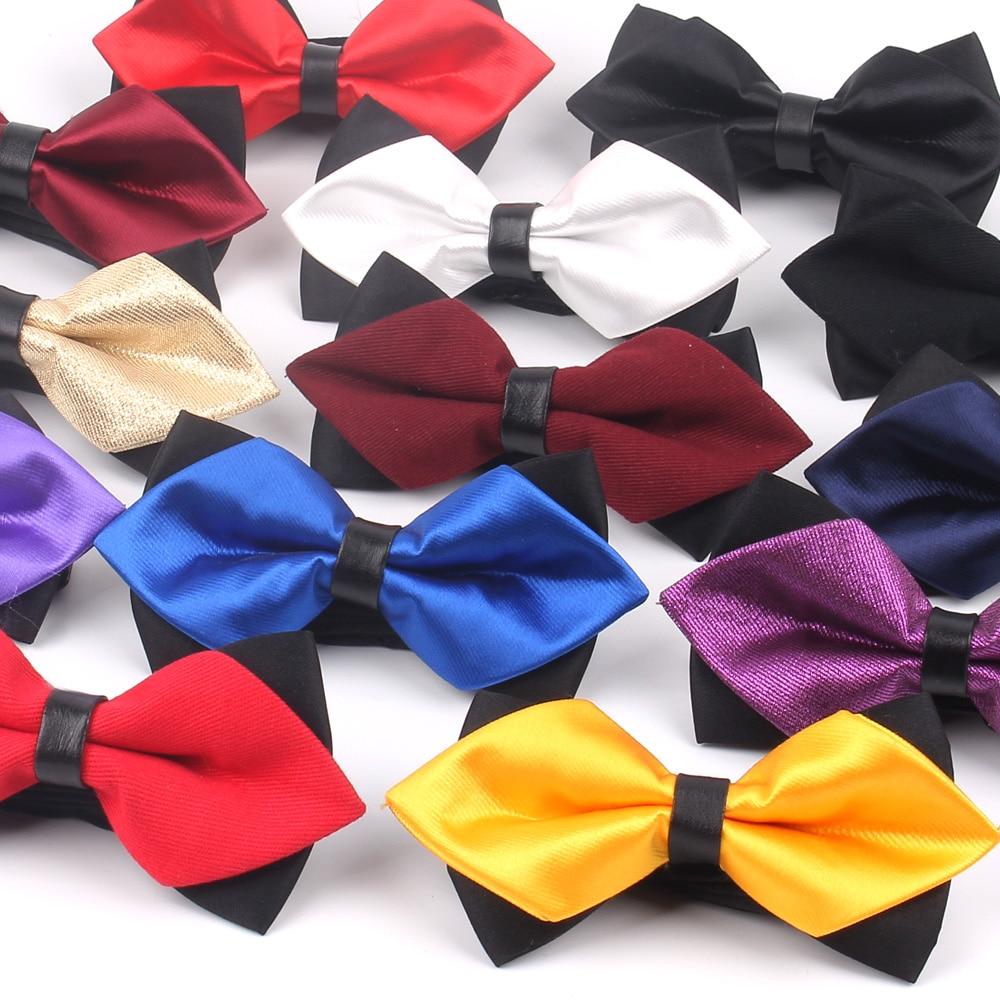 Gravata borboleta para homem clássico sólido gravata borboleta para homem mulher de negócios bowknot adulto masculino bowties cravats amarelo vermelho gravata