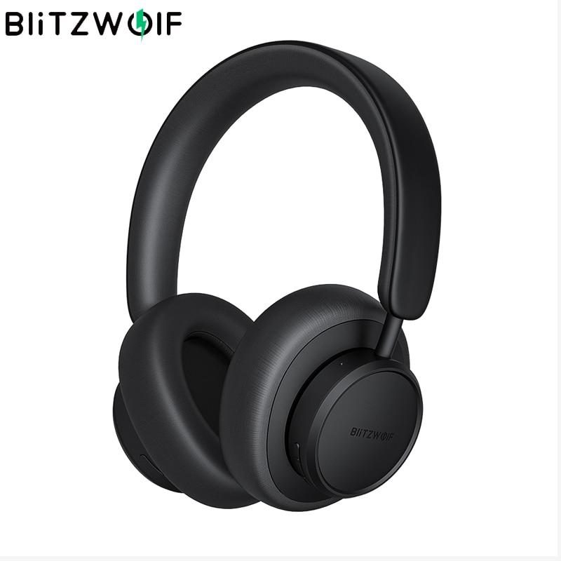 BlitzWolf BW-ANC5 نشط إلغاء الضوضاء سماعات سماعة بلوتوث متوافق سماعة HiFi ستيريو سماعة رأس جهيرة الصوت Soundcore