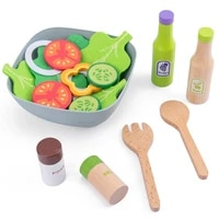 childrens kitchen toys diy vegetable salad cooking pretend play funny miniature food wooden toys for girls kids kitchen toy set