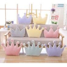 Bébé couronne oreiller 100% coton coussin enfants Troddler décoration créative Plus infantile literie oreillers bébé canapé-lit oreiller cadeau