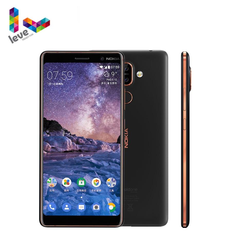 Оригинальный смартфон Nokia 7 Plus, Android, 4 Гб ОЗУ, 64 Гб ПЗУ, Восьмиядерный процессор Snapdragon 660, дисплей 6,0 дюйма, Bluetooth 5,0, разблокированный сотовый те...