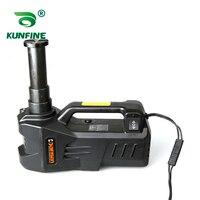 12V 5Ton Car Electric Tire Lifting Car Jacks Hydraulic Air Infatable Car Floor Jack With Tire Gauge Air Pump