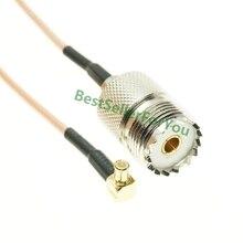 RG316 MCX câble de tresse RF   À ANGLE droit vers UHF femelle SO239 SO-239 JACKCoax RF