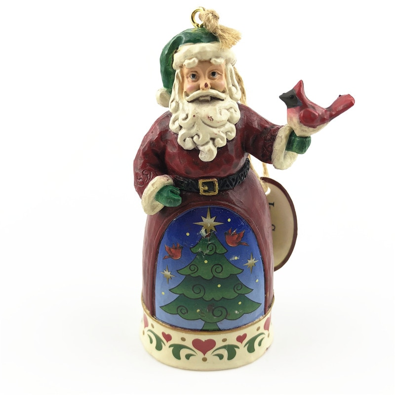 1 peça 10cm original enfeite de árvore de natal Papai Noel pingente brinquedos coleção limitada decoração brinquedos