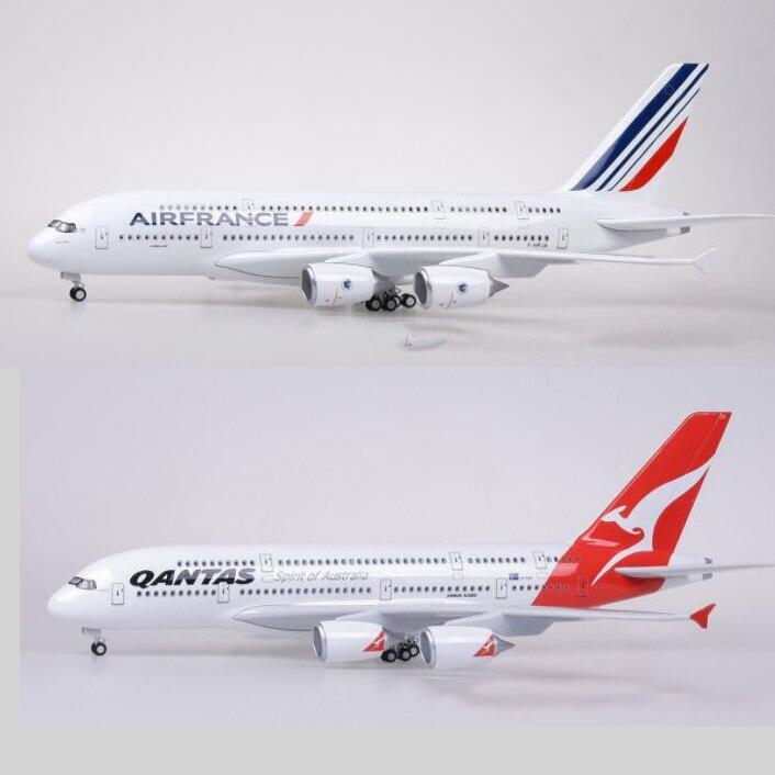 43-45.5CM Boeing 787 Airbus A380 airplane plastic alloy model Plane EMIRATES ETIHAD QANTAS AIRFRANCE LUFTHANSA ANA AIRLINES Toys