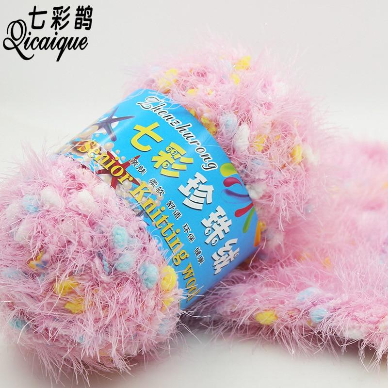 Hilo de lana de punto colorido de 250 g/Set, hilo de alta calidad para tejer abrigos suaves de Angora