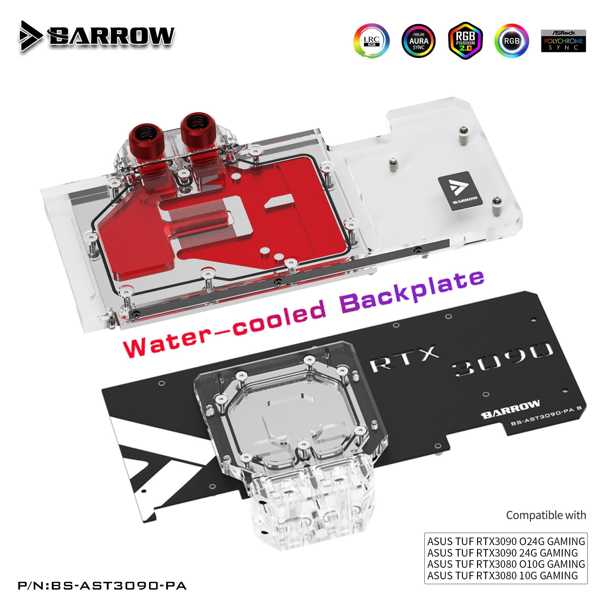 بارو 3090 3080 وحدة معالجة الرسومات كتلة المياه لوحة الكترونية معززة ل ASUS TUF 3090 3080 الألعاب ، في جميع أنحاء لوحة الخلفية برودة ، BS-AST3090-PA B