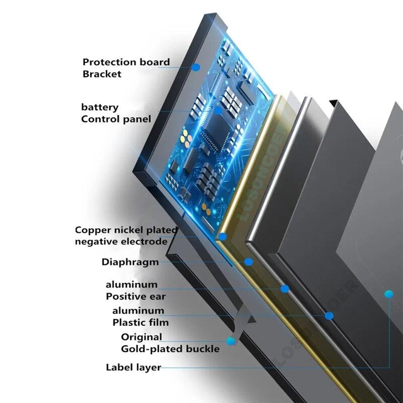 LOSONCOER Battery 500mAh SP372728SE Battery For TICWATCH 2 2nd Gen For TICWATCH E For TICWATCH S WE11056 enlarge