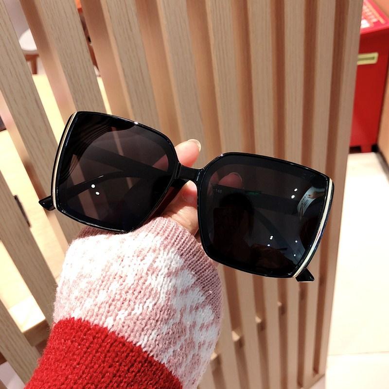 Vintage Brand Designer Oversize Square Sunglasses Women Men Fashion Gradient Female Black Glasses UV