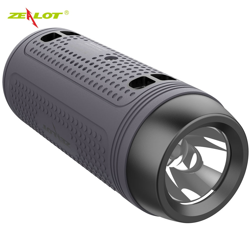 Zealot A1 Bluetooth Speaker Portable Wireless Bike Speaker+Flashlight+Shoulder Strap Support TF card,AUX,USB Flash Drive