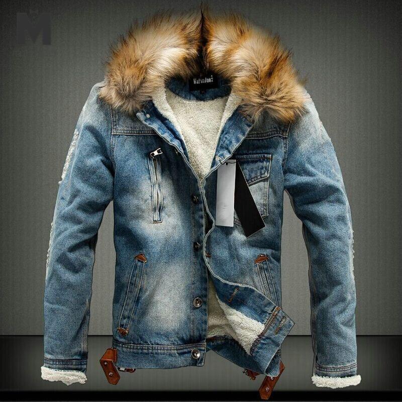Marstaci 2019 New Dropshipping Autumn Winter Men's Jacket Warm Thick Jeans Jackets Men Denim Coat Outerwear Mens Brand Clothing
