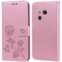 Роскошный кожаный чехол-книжка с откидной крышкой для Nokia 216 Dual Sim / Lumia 150, чехол-бумажник с подставкой и цветком розы, чехол для телефона, сумк...