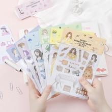 Colorful Adhesive Stickers Cute Cartoon Handbook DIY Decoration Paper Sticker Kawaii Diary Sticker Stationary Supplies 06570