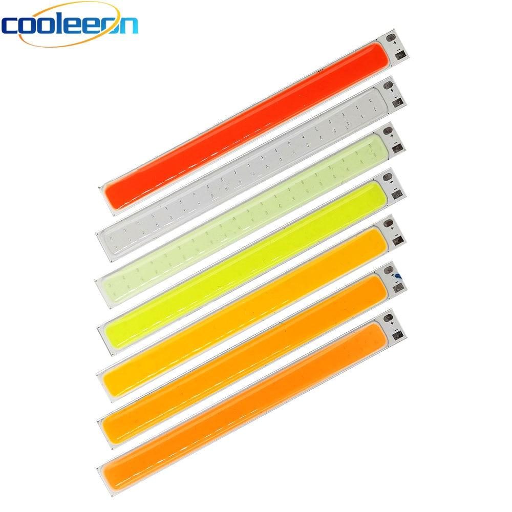 100mm LED COB Strip 10W 12V LED Light Yellow Orange Purple Pink Cold Blue Green Red Color LED Bulb for Car Lighting Decor Lamps