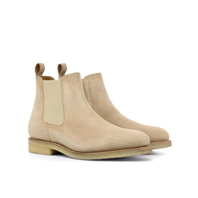 تشيلسي الشتاء الجمل أحذية رجالي أحذية حذاء برقبة للعمل البساطة موضة أحذية مصممين الرجال إضافة المخملية البقر المدبوغ