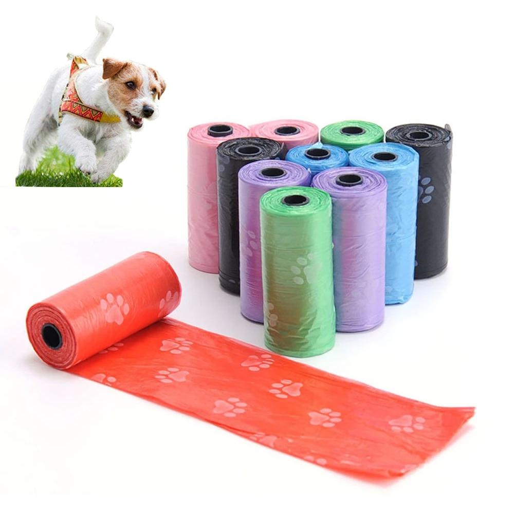 Пакеты для отходов для собак, 75/150 шт., биоразлагаемые пакеты для отходов домашних животных, пакеты для уборки всех собак, пакеты для наполнен...