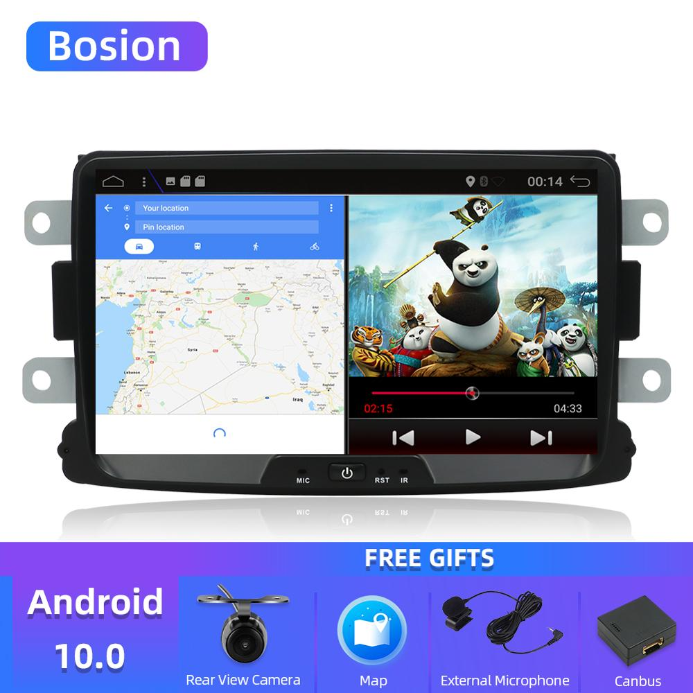 Bosion android 10,0 автомобильный dvd для Dacia Lodgy Logan, Duster Sandero с 1 din радио gps видео wifi навигация мультимедийный плеер