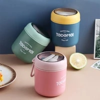 thermal lunch box mini soup cup food container with spoon stainless steel vacuum cup breakfast bucket draagbare ontbijtbeker