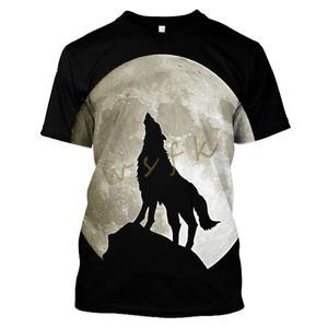 LBG summer wolf t-shirt unisex casual o-neck print 3D t shirt short sleeve 3D animal sweatshirt