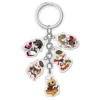 3 styles anime angels of death keychain acrylic pendants cute cartoon bag key chains cosplay jewelry gift