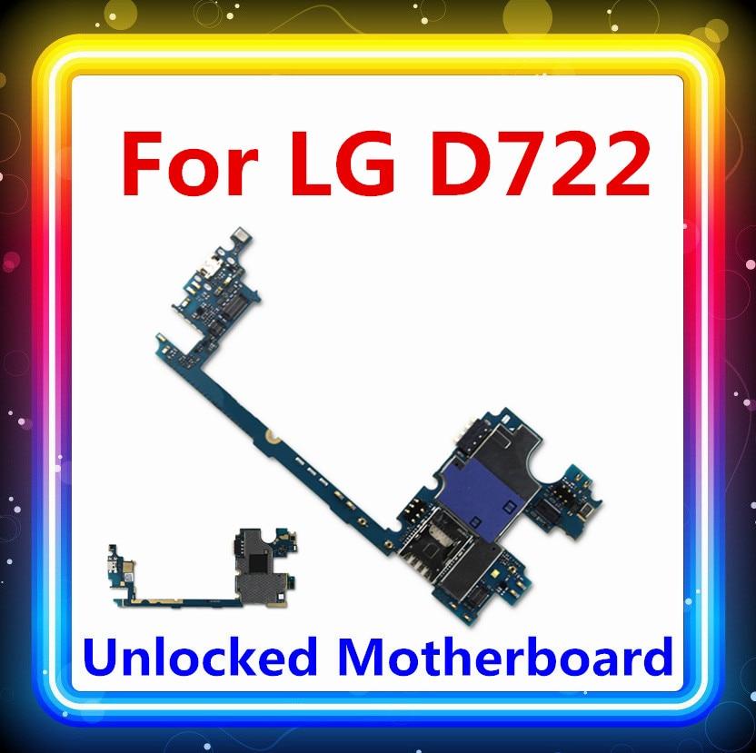 Placa lógica Original completa para LG G3 mini D722 placa base desbloqueado con chip completo placa base de prueba completa Android OS D722 tarjeta