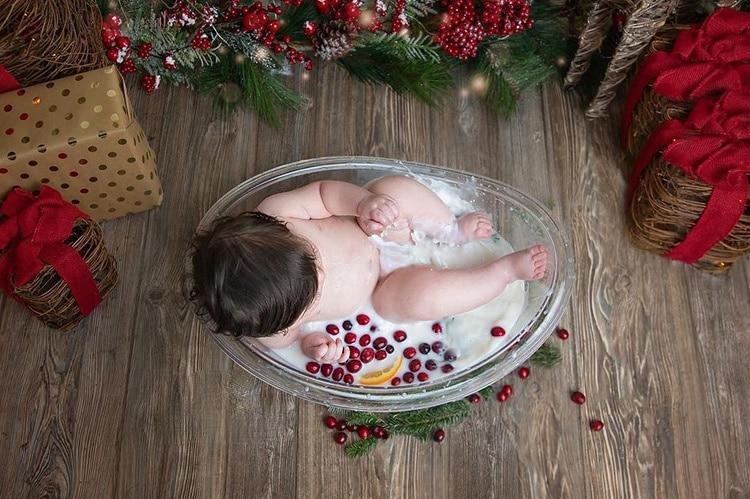 Transparent Bathtub  Bucket Newborn Photography Props  Baby Photography Furniture Boy Girl Boy Fotografie Accessoires enlarge