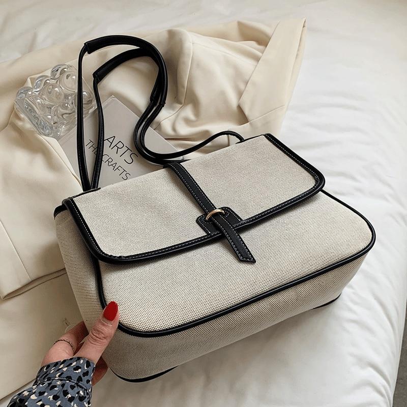 2021 Vintage Leather Shoulder Bag Female Handbags Women Crossbody Bags Designer Ladies Casual Travel Tote Large Woman