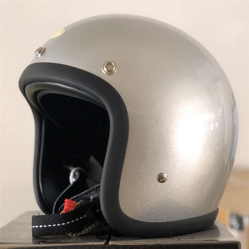Casco de motocicleta de estilo TT CO sin cabeza De Seta peso ligero y cómoda máscara abierta hecha a mano de fibra de vidrio