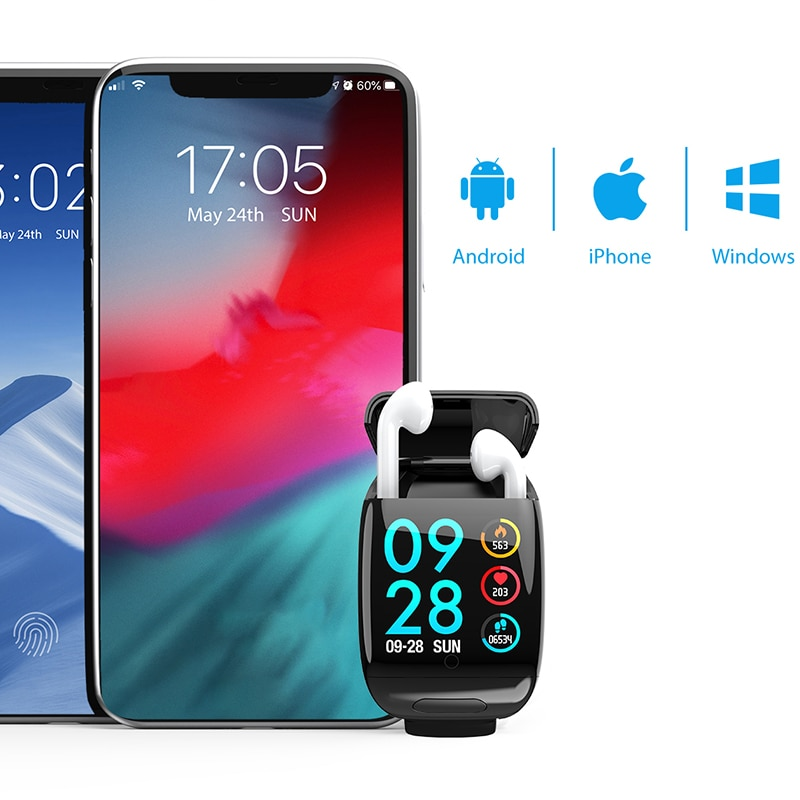G36 Bluetooth TWS Earphone Smart Watch Health Tracker Wireless Earbuds Fitness Bracelet Smart Wristband TWS Bluetooth Headset enlarge