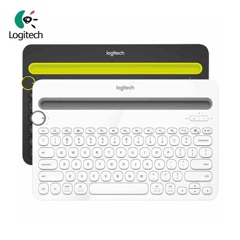 لوجيتك K480 بلوتوث متعددة جهاز لوحة المفاتيح المحمولة مكتب كمبيوتر لوحي (تابلت) وهاتف ذكي PC رقيقة جدا لوحة المفاتيح اللاسلكية