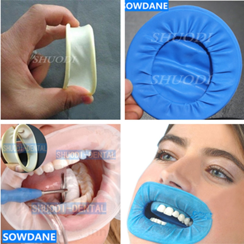30 pieces Rubber Dam Rubber Latex Dental Intraoral Dentistry Cheek Retractor Full Mouth Opener Teeth Whitening Material недорого