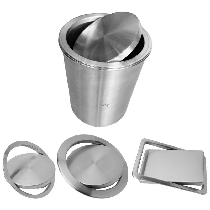 الفولاذ المقاوم للصدأ فلوش راحة المدمج في التوازن سوينغ رفرف غطاء غطاء علبة مهملات سلة النفايات طاولة مطبخ علوي