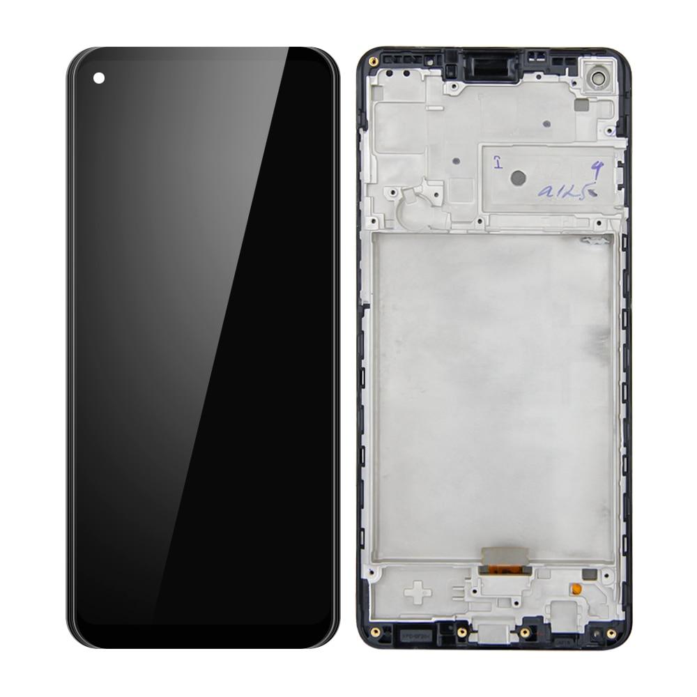 Super amoled lcd para samsung galaxy a21s SM-A217/ds a217f display lcd tela de toque digitador assembléia com quadro