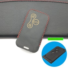 3 Buttons Remote 100% Genuine Leather Car Key Case Cover Wallet For Renault Megane R.S. Scenic Card