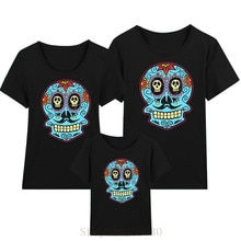 .Dia de los Muertos, Day of the Dead, Halloween, Mexican skulls mommy and daughter matchinchildrens