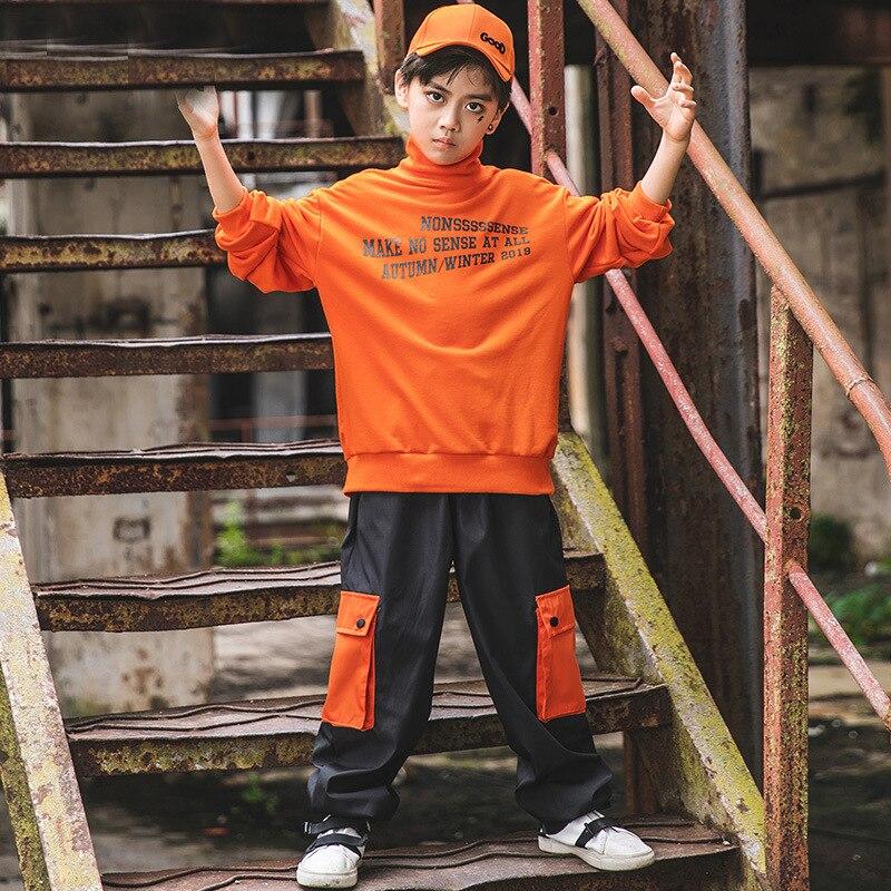 Ropa interior de hip-hop párr niño camiseta y pantalones para niña casuales...