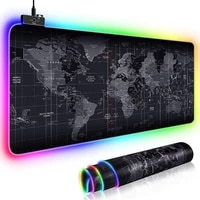 rgb large gaming mouse pad old world map mousepad non slip rubber desk mat computer pad keyboard pad laptop notebook pad