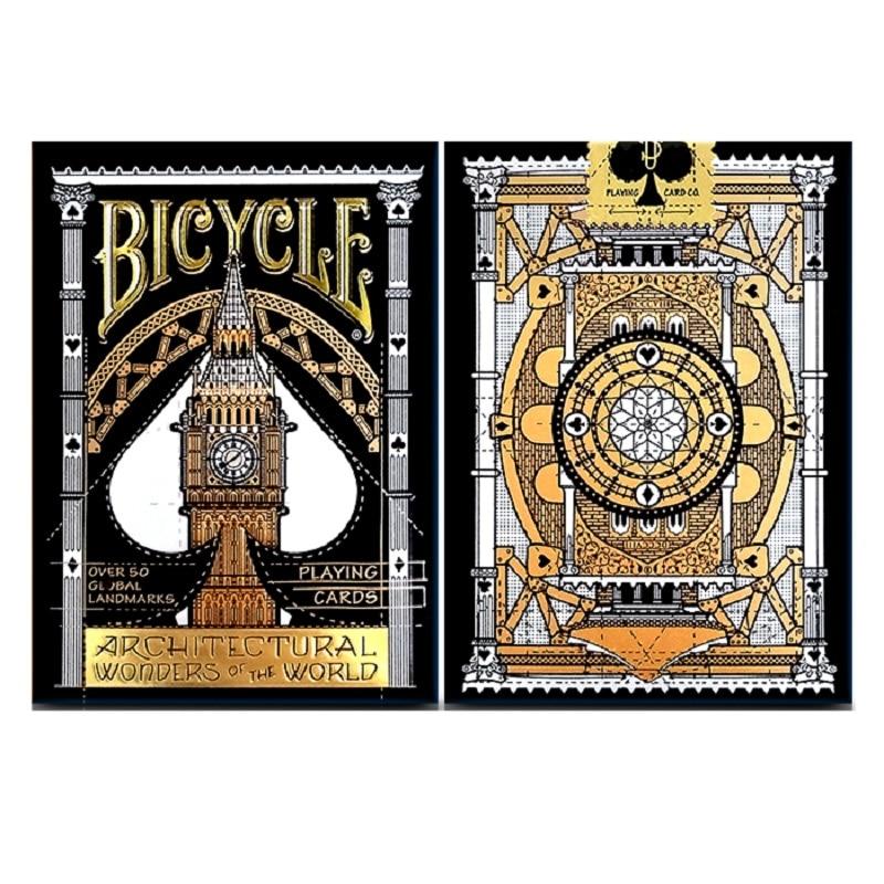 Велосипед архитектурные чудеса мира игральные карты USPCC Коллекционная колода покер размер волшебные карты игры магические трюки реквизит