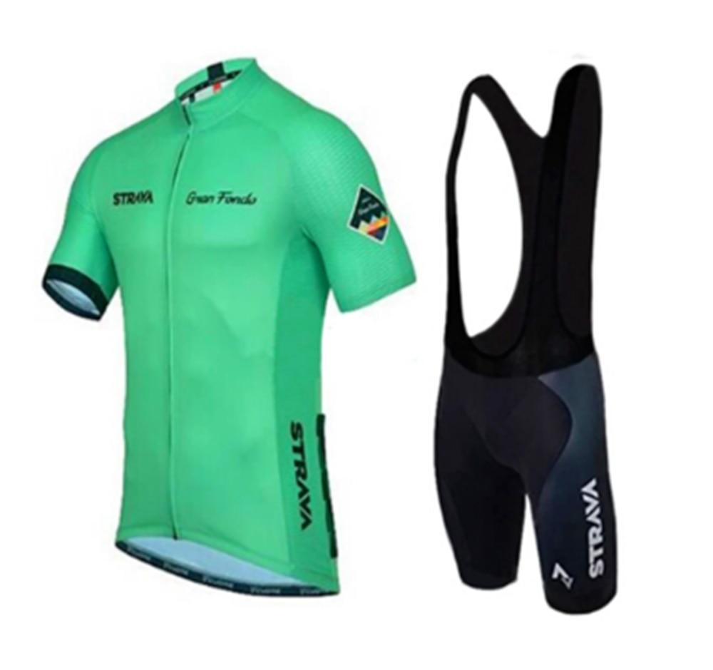 ¡2019 Nuevo! STRAVA-Ropa De Ciclismo para hombre, Maillot, almohadilla De Gel Respirable,...