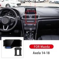 2021 new car phone holder gravity car bracket air vent stand holder cell phone holder for mazda axela 14 18 car goods brackets