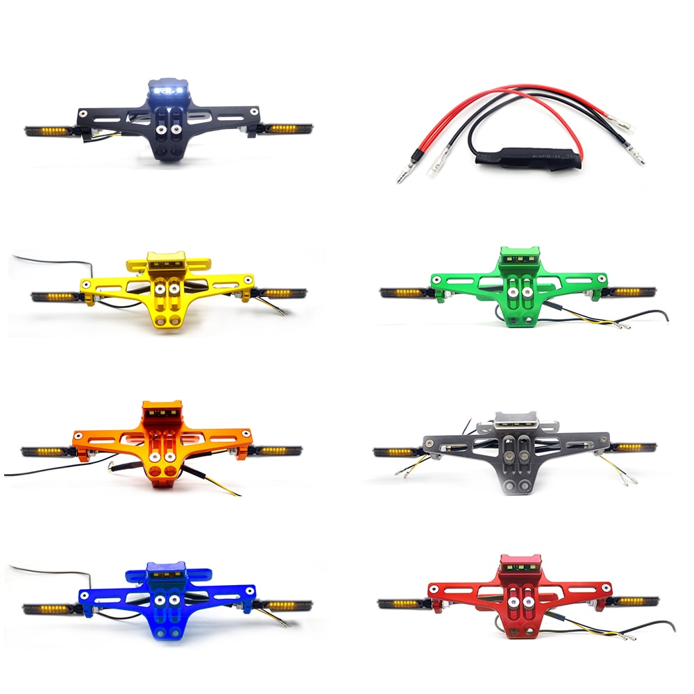 لوحة ترخيص LED CNC للدراجات النارية ، متوافق مع honda shadow vt 750 ، jet ski ، yamaha ، yamaha fz 16 ، honda shadow vt750