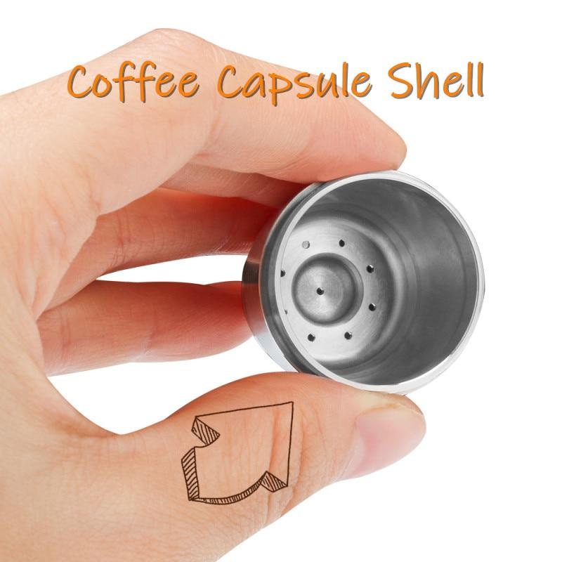 Multi-fett Platz Loch Edelstahl Kaffee Nespresso Shell Recycle Nestle Modell Mit Löffel Pinsel Kaffee Kapseln Dolce Gusto