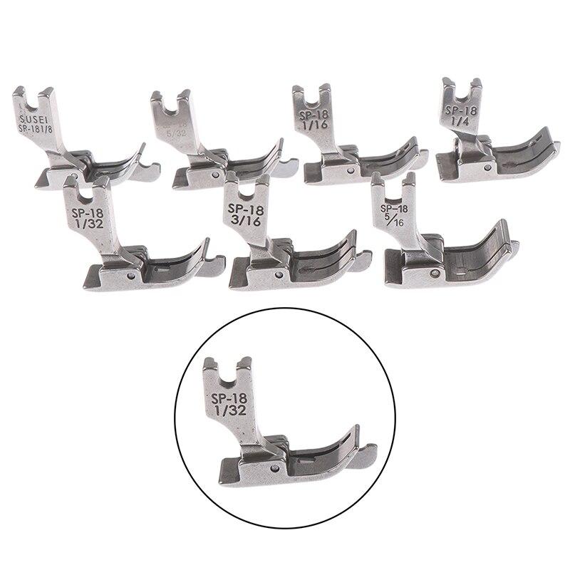 1 Uds Metal prensa pie plano 1/4, 1/8, 3/8, 1/16, 3/16, 5/16, 1/32 SP-18 Máquina De Coser Industrial coche plano se borde de una sola aguja